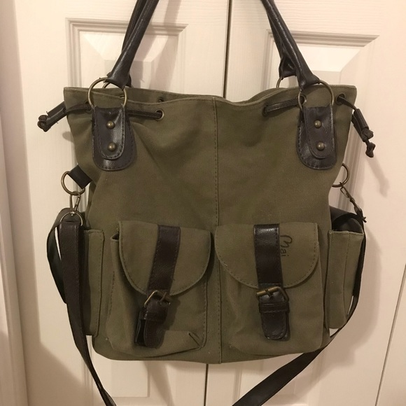 accc3c3127e Army Green Canvas Messenger Satchel. M_5a6d87049d20f0255199fcda. Other Bags  you may like. Steve Madden ...